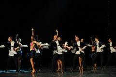 热四面八方比基尼泳装这仑巴舞这奥地利的世界舞蹈 库存照片