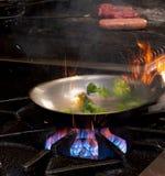 热在厨房里 免版税库存图片