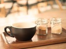 热在杯子的美国没有咖啡 免版税库存图片