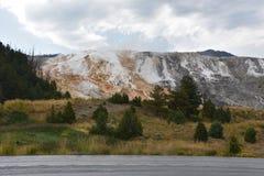 热声势浩大的国家公园反弹黄石 免版税库存照片