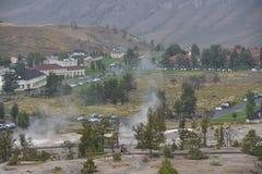 热声势浩大的国家公园反弹黄石 免版税库存图片