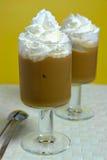 热奶咖啡上等咖啡 库存图片