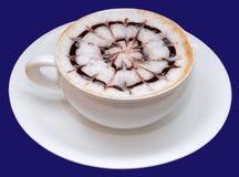 热奶咖啡咖啡杯查出 免版税库存照片
