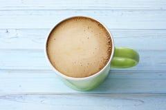 热奶咖啡咖啡杯背景 免版税库存照片