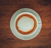 热奶咖啡咖啡杯 免版税库存照片
