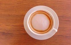 热奶咖啡咖啡杯 免版税图库摄影
