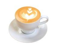 热奶咖啡咖啡杯 免版税库存图片