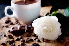热奶咖啡咖啡杯 库存照片