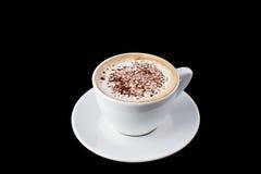 热奶咖啡咖啡杯latte白色 库存照片