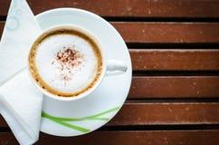 热奶咖啡咖啡 免版税库存照片