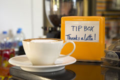 热奶咖啡咖啡 免版税图库摄影