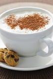 热奶咖啡咖啡latte 免版税库存照片