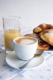 热奶咖啡意大利语 库存照片