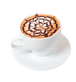 热奶咖啡时间 库存照片