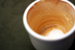 热奶咖啡末端 免版税库存图片