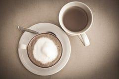 热奶咖啡杯子茶白色 库存照片