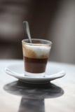 热奶咖啡欢欣 免版税库存图片