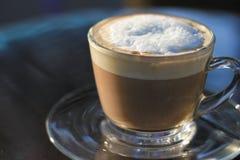 热奶咖啡热早晨 免版税图库摄影