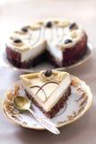 热奶咖啡蛋糕 库存照片