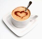 热奶咖啡重点 图库摄影