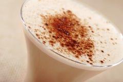热奶咖啡鸡尾酒 免版税库存照片