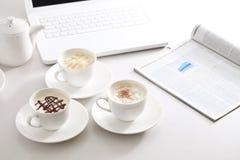 热奶咖啡, 免版税库存图片
