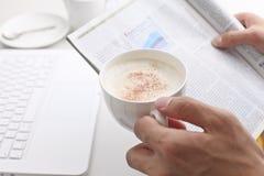 热奶咖啡, 免版税图库摄影