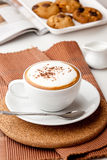 热奶咖啡 图库摄影