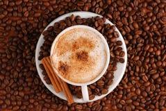 热奶咖啡 库存照片
