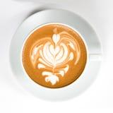 热奶咖啡 免版税库存图片