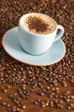 热奶咖啡 免版税图库摄影