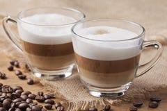 热奶咖啡caffee 库存照片