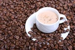 热奶咖啡v 免版税库存照片