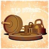 热守旧派的健身房 向量例证
