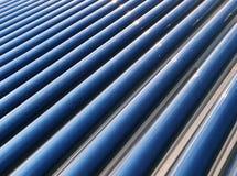 热导管太阳水加热器 免版税图库摄影