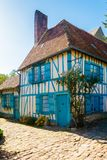 热尔伯鲁瓦村庄法国 库存图片