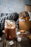 热巧克力和姜星 库存照片