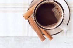 热巧克力用肉桂条 库存图片