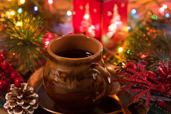 热巧克力的圣诞节 库存照片
