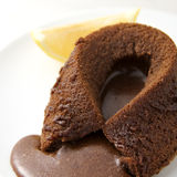热巧克力的方旦糖 库存照片