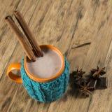热巧克力的杯子 免版税库存照片