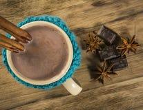 热巧克力的杯子 库存照片