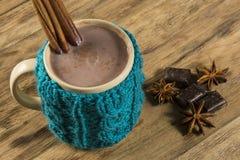 热巧克力的杯子 免版税库存图片