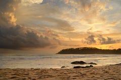 热带云彩展开 库存图片