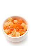 热带五颜六色的干的果子 免版税库存照片