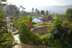 热带亚洲手段的温泉 库存图片