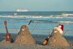 热带佛罗里达海滩假期圣诞节 库存图片