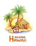 热带例证的海岛 免版税库存图片