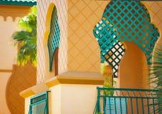 热带假期室外阳台建筑学 图库摄影