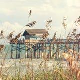 热带假期海滩佛罗里达码头 库存照片